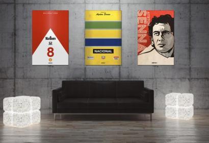 Постеры с легендами автоспорта от дизайнеров United61