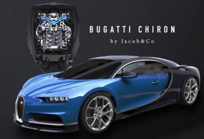 Наручные часы за $280,000 с работающей копией двигателя Bugatti W12 внутри
