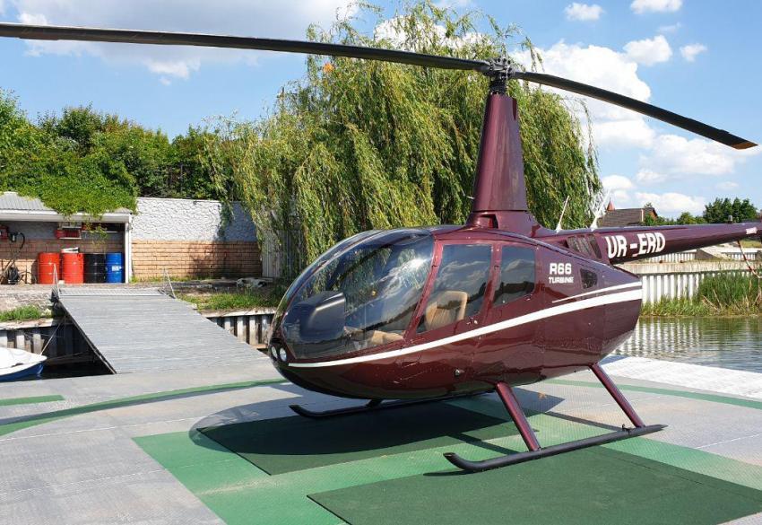 Аренда частного вертолета Робинсон Р66 в Киеве