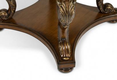 Стол для холла из натурального дерева и камня