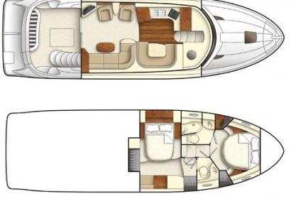 Продажа моторной яхты Meridian 441 Fly c флайбриджем в Киеве